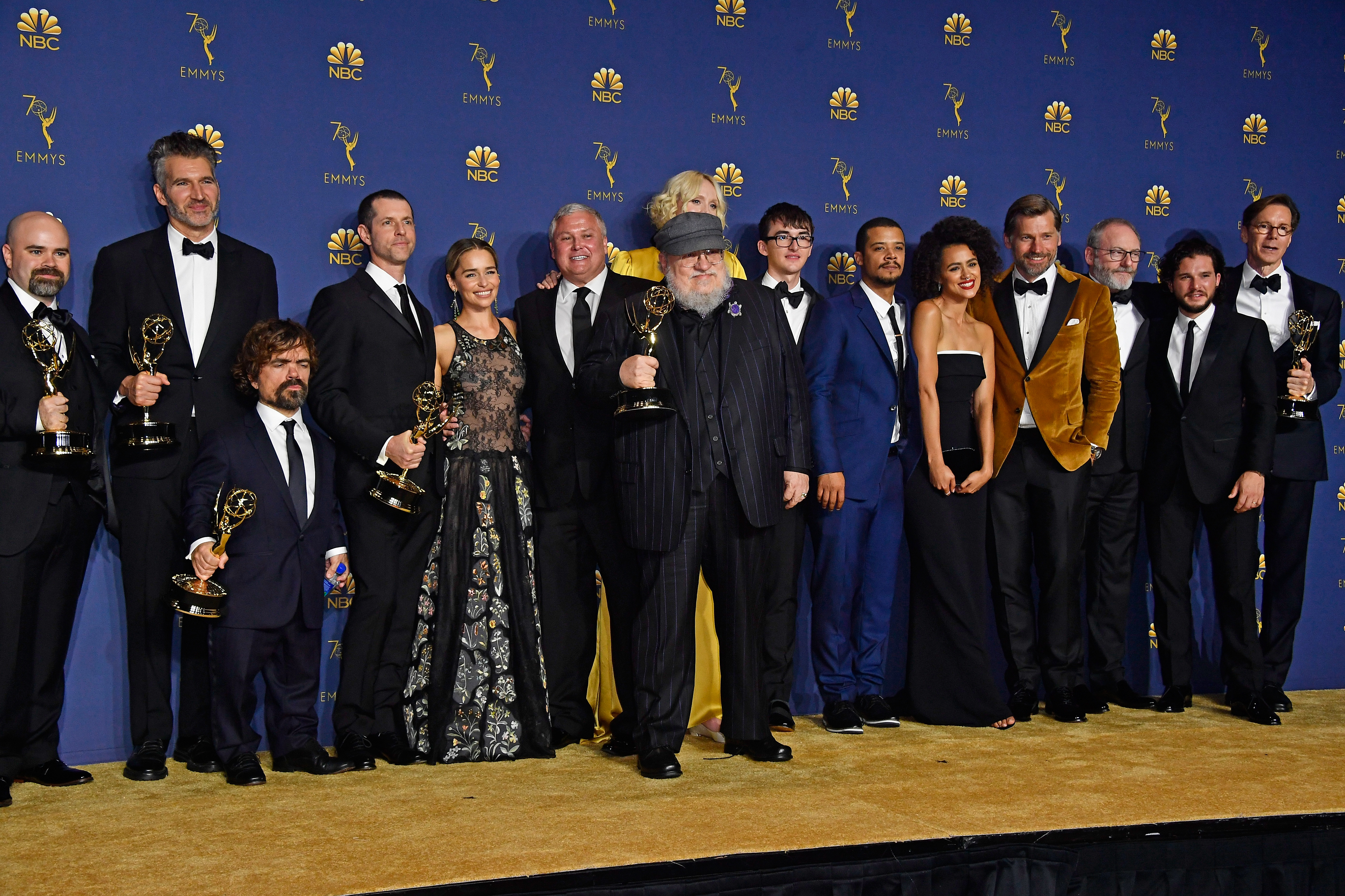 game of thrones cast George rr Martin photo